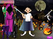 Play Halloween cute dressup Game