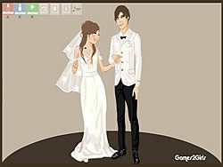 Getting Married Dressup game