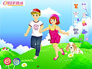 Kids Couple on Field game