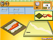 Play Cooking show sushi rolls Game