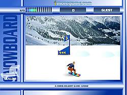 Snowboard Slalom game