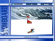 Play Snowboard slalom Game