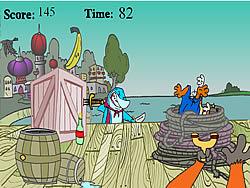 Cubesteak's Slingshot Surprise game