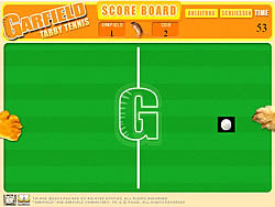 Garfield Tabby Tennis game