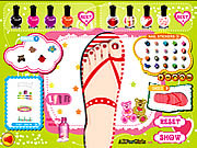Sweet Feet Nail Polish game