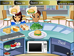 Merry Burger game