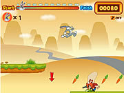 Play Bugs bunnys hopping carrot hunt Game