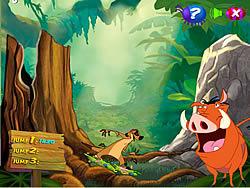 Timon and Pumbaa's Grub Ridin' game