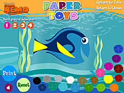 Play Finding nemo paper toys Game