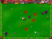 Chainsaw Killer Zombie against Cute Little Bunnies game