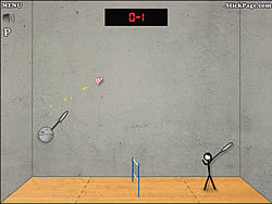 Stick Figure Badminton game