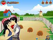 Play Farm kissing Game