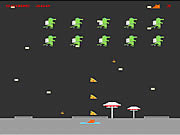 Flying Pizza Kitty in Attack of the Jetpack Lizard game