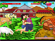 Play Sweet kiss in animal park Game