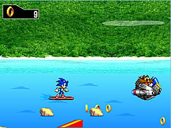 Sonic Surf game