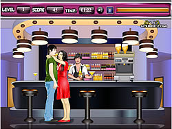 Vanessa and Zac Kissing game