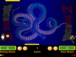 Dragon Ball Z Pong game
