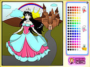 Play Castle of princess coloring game Game