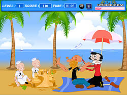 Popoye Kiss game