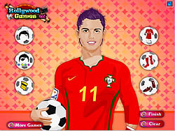 Christiano Ronaldo Dressup game