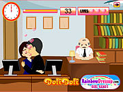 Play Kissing in the office Game