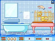Play Huehnerwasser chicken bath Game