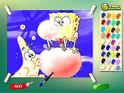 Spongebob And Patrick Coloring Game game