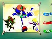Play Sonic coloring game Game