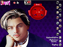 Leonardo Di Caprio Celebrity Makeover game