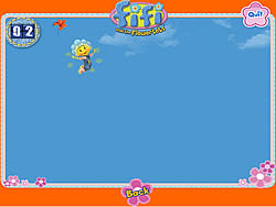 Fifi's Flying Flower Petals game