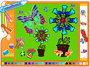 Play Coloring picture butterfly Game