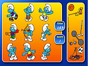 Smurfs Sports Pairs game