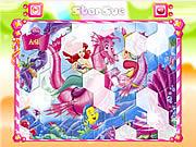Play Princess ariel hexagon puzzle Game