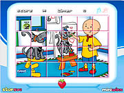 Caillou Rotate Puzzle game
