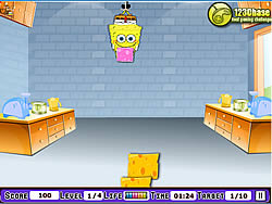 Spongebob Square Pants - Cheesew Dropper game
