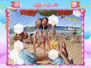 Play On the beach hexagon puzzle Game