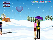 Snow Fall Kissing game