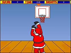 Santa Hoops game