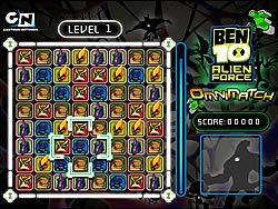 Ben 10 Alien Force Omnimatch game