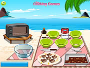 Play Barbie cooking chocolate fudge Game
