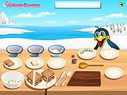 Play Barbie cooking-smoked salmon sandwiches Game