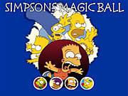 Simpsons Magic Ball game