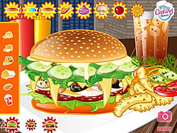 Mushroom Melt Burger game