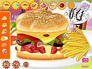 Play Mushroom melt burger Game