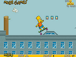 Bart On Skate game