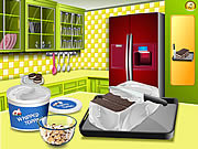 Play Saras cooking class ice cream sandwich cake Game