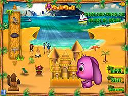 Toto's Sand Castle لعبة