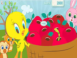 Tweety's Pluck a Worm game