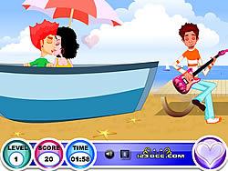 Seaside Kissing game