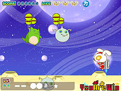 Cute Rabbit vs Monsters game